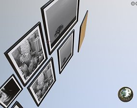 3D model wall art architectural assets picture frames
