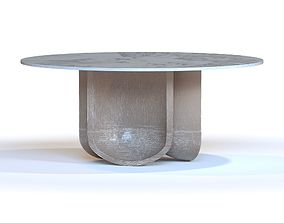 3D model SHO MODERN CURVE DINING TABLE