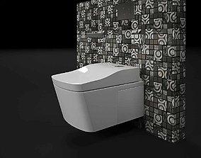 3D model Tenarchstudio Lanche TOTO Toilet Closet Render 1