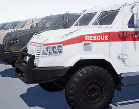 3D model rigged game-ready Armored Military Vehicle