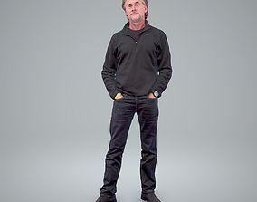 Man Standing Wearing Dark Clothes CMan0210-HD2-O01P01-S 3D