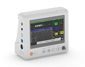 7 Inch Patient Monitor cardiac 3D