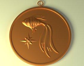 Pisces horoscope 3D print model