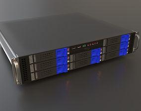 3D model Media server rack