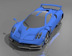 3D model Pagani Huayra BC