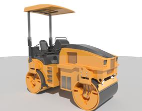 3D asset realtime Road Roller