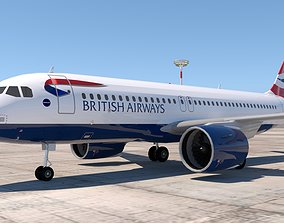 BRITISH AIRWAYS A320 NEO 3D model