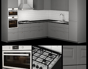 kitchen bodbyn gray L-shaped 3D