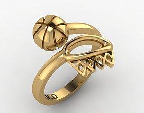 3D printable model basket ball ring