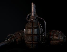 3D asset F1 soviet grenade