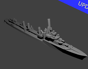 3D print model French Aigle Class Destroyer