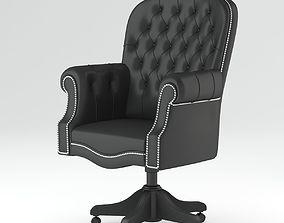 Dark Grey Armchair 3D office