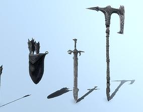 3D asset Epic Weapons