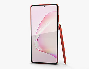 Samsung Galaxy Note10 Lite Aura Red 3D model
