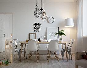 3D light Scandinavian Interior