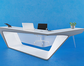 3D Reception Counter 009