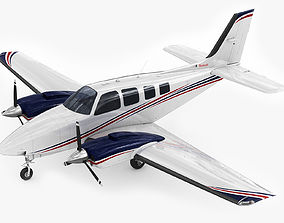 3D model Beechcraft Baron G58