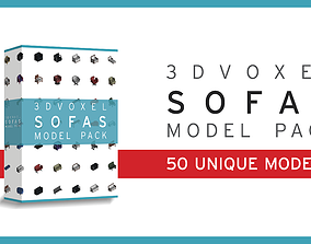 realtime Afinity Studios - 3D Voxel Sofas Model pack