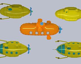 Cartoon submarin 3D model