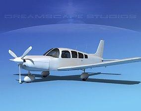 Piper Cherokee Six 300 Bare Metal 3D