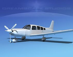 Piper Cherokee Six 300 Bare Metal 3D