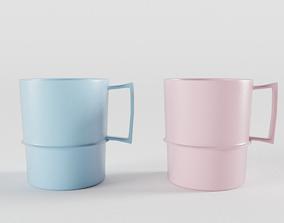 Tupperware Coffee Cups 3D model