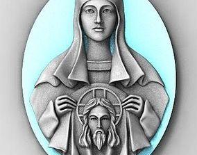 icon Jesus Mother of God God 3D print model
