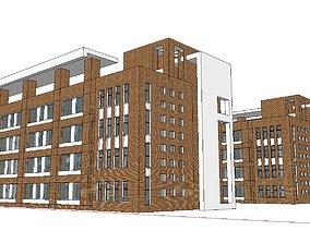 Office-Teaching Building-Canteen 37 3D model