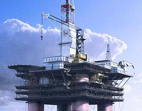 3D Oil Rig Station