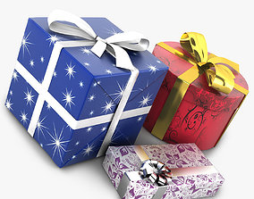 Wrapped Gifts 3D model