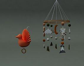 WOODLAND BOHO ANIMALS MOBILE 3D