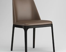 Black And Brown Poliform Grace Chair 3D