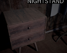 3D model game-ready PBR Nightstand