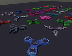 3D model Fidget Spinner Pack
