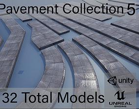 Lowpoly Modular PBR Pavements 5 3D asset