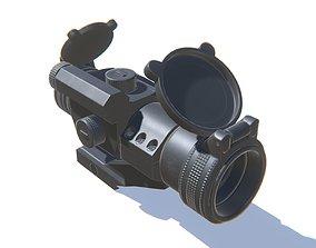 Tactical Prism Scope 3D model