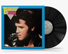vinyl record Elvis Gold Records Volume 5 3D asset