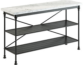 3D model Crate and Barrel French Kitchen Bakers Rack