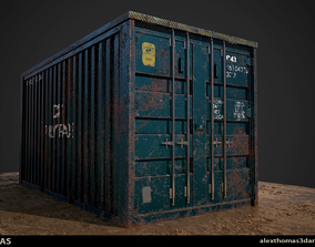 3D model game-ready Shipping Container
