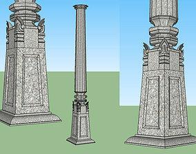 stone pillar 3D