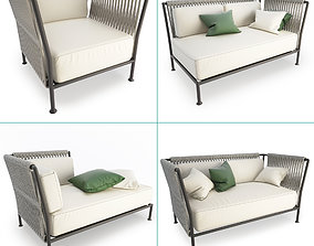 3D model Treble Braided Outdoor Furniture Collection