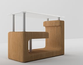 interior 3D printable model table