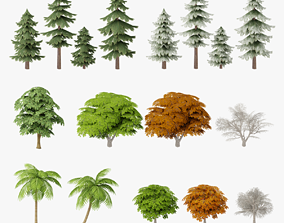 nature 3D Tree Low Poly Collection G18