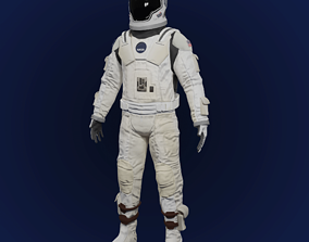 Sci Fi Space Suit Interstellar 3D game-ready