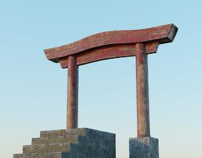 Japanese Gate 3D asset