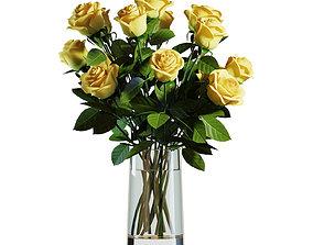 3D model Flower Set 05 - Yellow Roses Bouquet