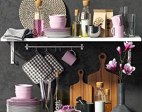 Kitchen set PINK 3D
