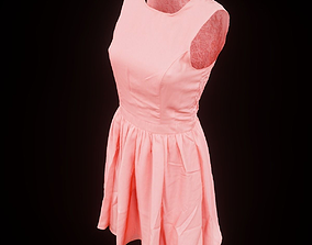 3D asset Salmon Coloured Dress