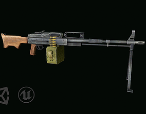 3D model VR / AR ready PK machine gun
