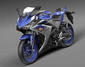 Yamaha YZF R3 2015 3D model
